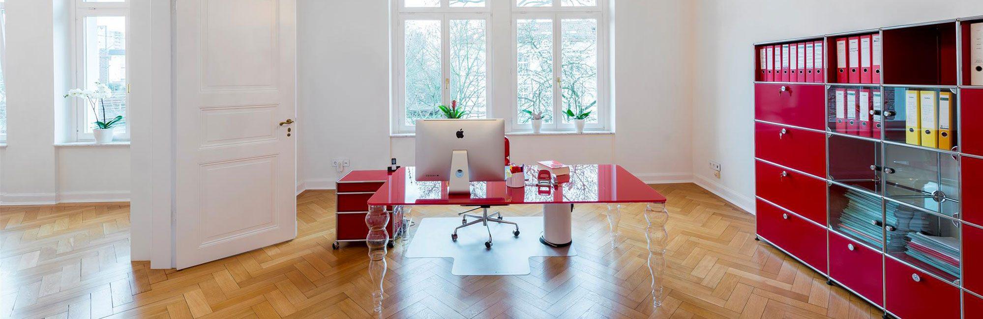 Büroraum der Anwaltskanzlei Rose in Frankfurt